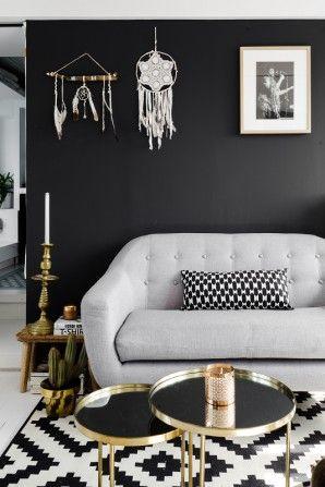 ritchie un canap 2 places avec boutons arc en ciel en gris anthracite id es. Black Bedroom Furniture Sets. Home Design Ideas