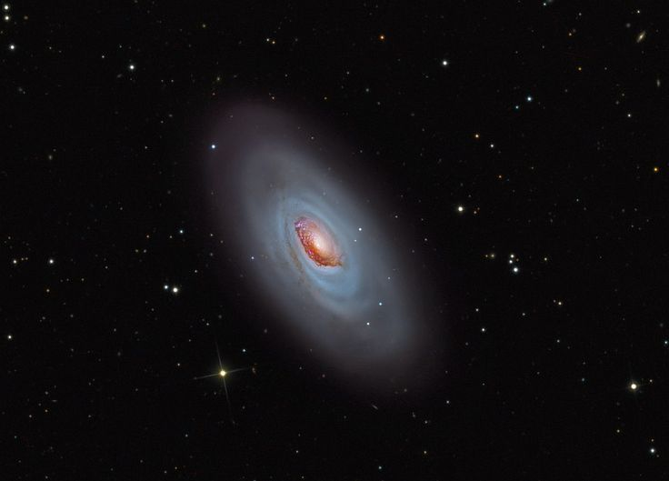 M 64 — это Спящая Красавица, галактика Чёрный Глаз в созвездии Волосы Вероники
