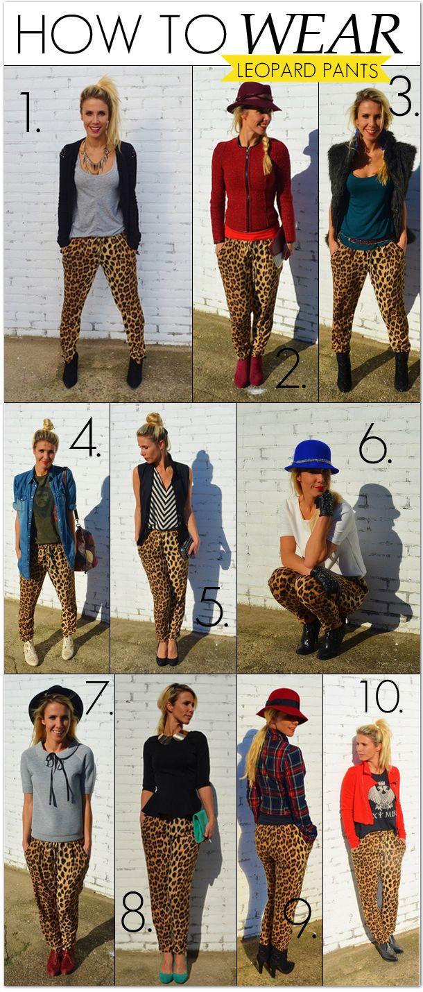10 maneras de usar un pantalón con estampado de leopardo