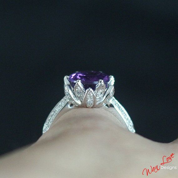 Alexandrite Color Change Sapphire Lotus flower by WanLoveDesigns