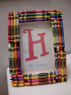 crayon picture frame how-to