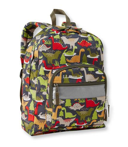 Dinosaur Back Pack at LLBean!!!  Junior Original Book Pack, Print: Ages 4 to 7 | Free Shipping at L.L.Bean