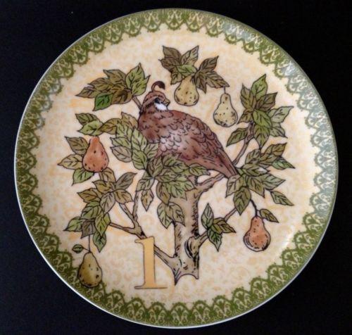 Pottery Barn Twelve 12 Days Of Christmas Plates New