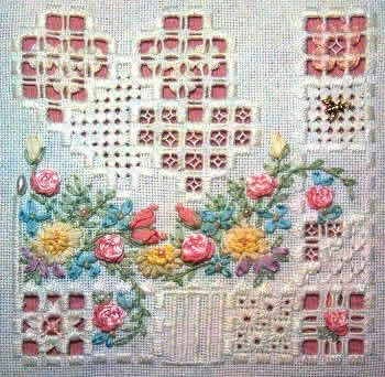 ribbon needlework | ... hardanger embroidery and silk ribbon embroidery this is…