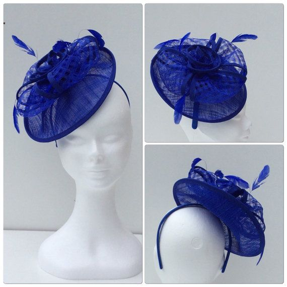 Blue fascinator royal blue headpiece mother of by Embellishmoime