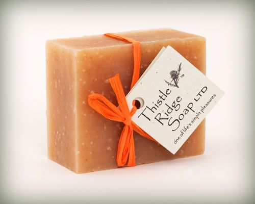 Our $5 all-natural cold pressed Citrus Sunrise soap will invigorate your senses and skin in the mornings.