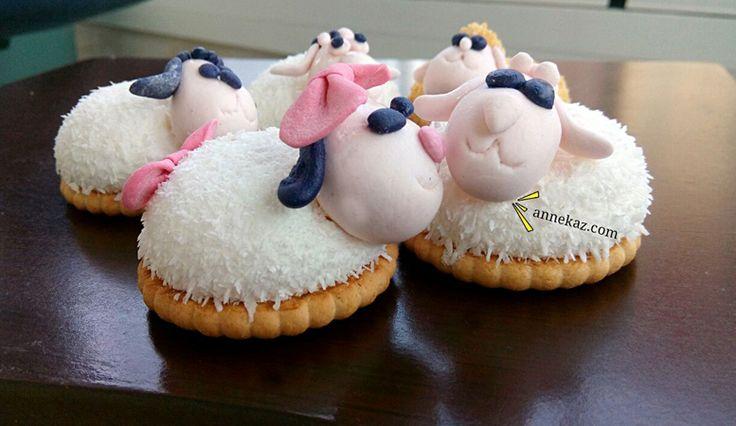 Çocuklarla yapilacak bayrama özel etkinlik eti puf koyunlar