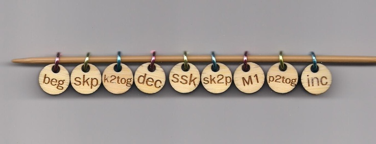 Crochet Stitch Notation : Notation Stitch Markers - looks like it would help me remember when to ...