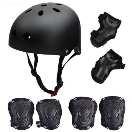 Outdoor Youths Kids Skating Skateboard Helmet+6pcs Elbow Knee Wrist Pads Cycling Sports for Children Teen Protective Gear Safety Scooter