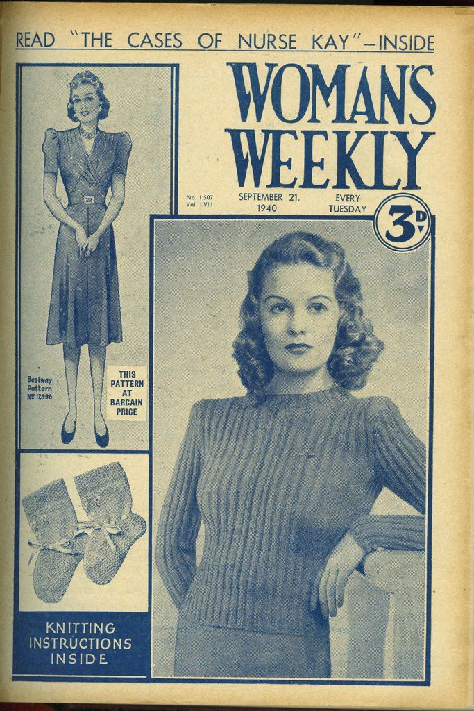 12 Best Original Vintage Knitting Patterns Images On Pinterest