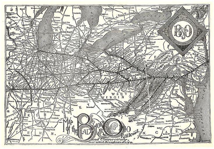BEAUTIFUL OLD MAP-TYPE /// 1891 B&O - Baltimore and Ohio Railroad - Wikipedia, the free encyclopedia