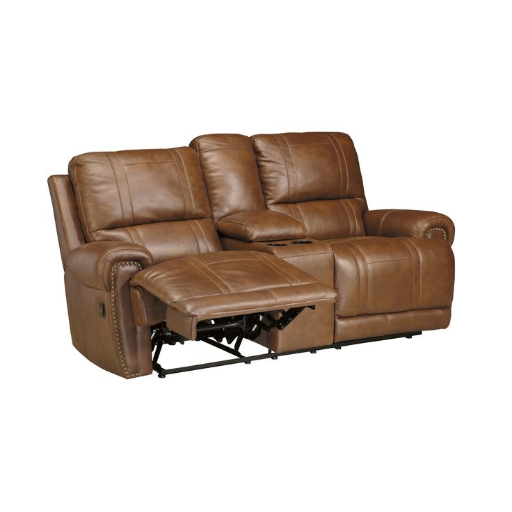 SB Signature Design by Ashley Paron Vintage Double Recliner Loveseat with Console  sc 1 st  Pinterest & Best 25+ Double recliner loveseat ideas on Pinterest | Power ... islam-shia.org