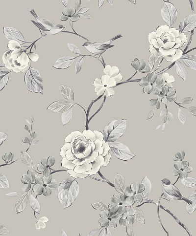 Reminds me of the original wallpaper in my old farmhouse! Lara Taupe wallpaper by Arthouse