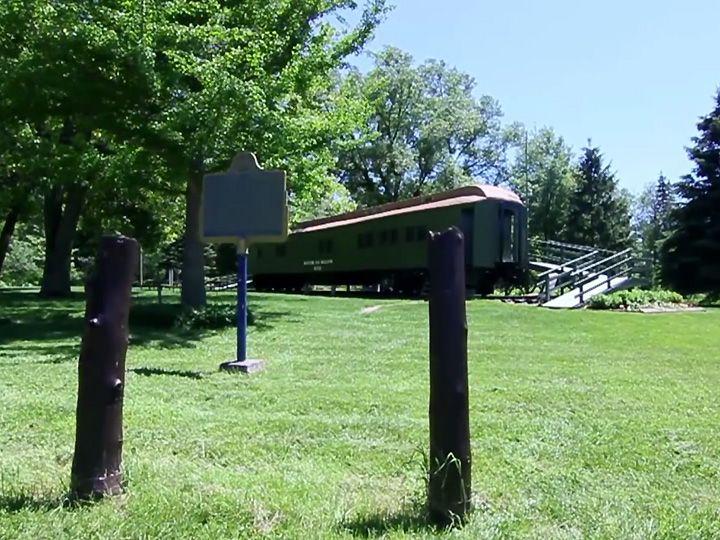 CNR School on Wheels Railcar Museum, Sloman Memorial Park, Clinton, Ontario