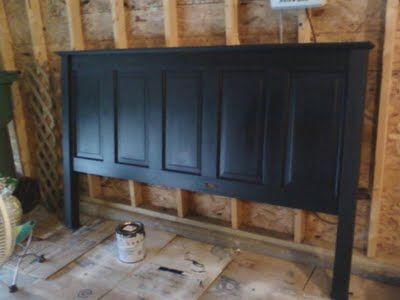 The Princess Diaries: DIY Old Door turned Headboard