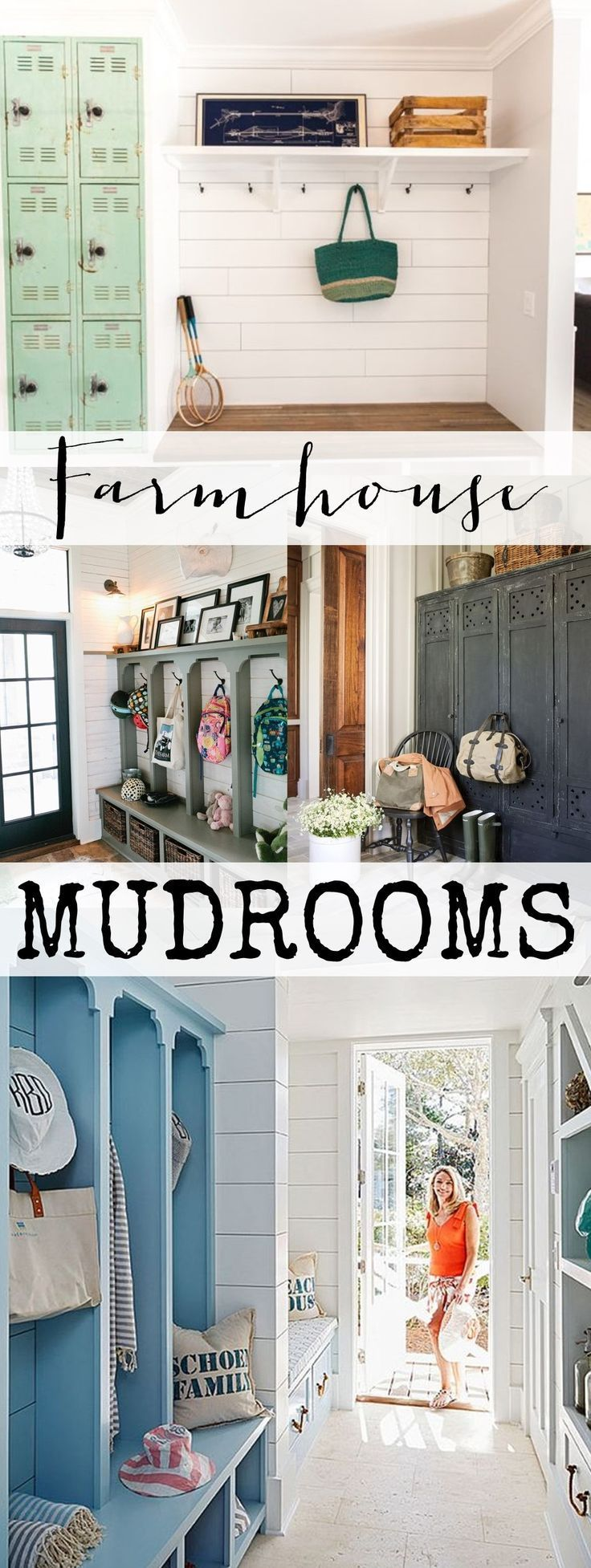 1000 ideas about mud rooms on pinterest laundry rooms for Farmhouse mudroom ideas