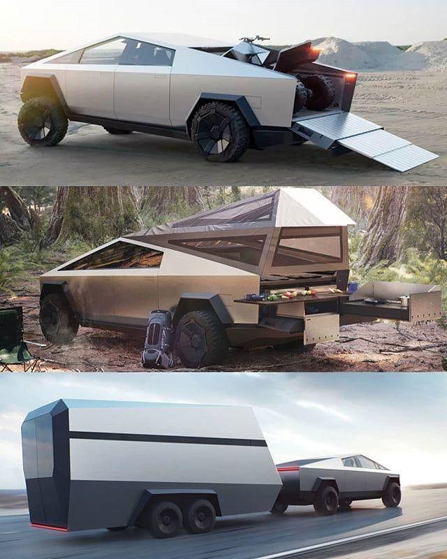 Tesla Cybertruck Futuristic Cars Tesla Car Tesla Motors