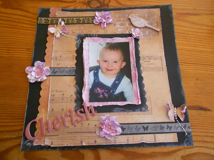 scrapbook page i made using kaszazz products