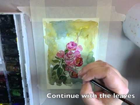 How to Paint Watercolor Postcards in Vintage Style