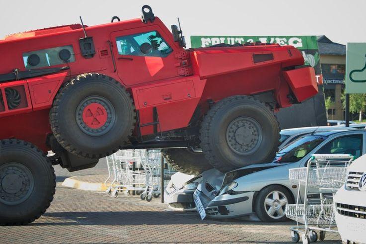 Marauder armored vehicle.