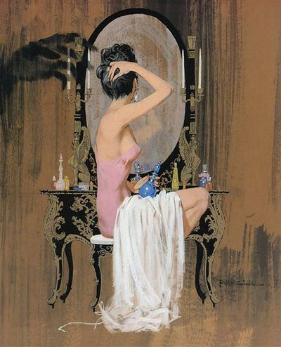 Robert Mcginnis Every woman should have her special place where she becomes the woman she will be that day and then returns to her natural state of comfort at the end of it