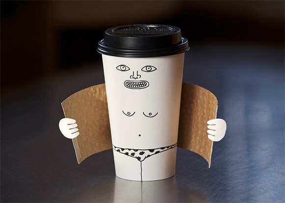 A hot coffe?! Maybe...Laugh, Brock Davis, Coffe Cups, Funny, Exhibitionist Coffe, Coffee Cups, Humor, Things, Design