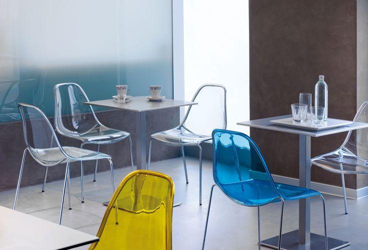 Kuipstoel Daydream | Kantinestoel | Restaurantstoel | MV Kantoor | Verschillende kleuren | Transparant