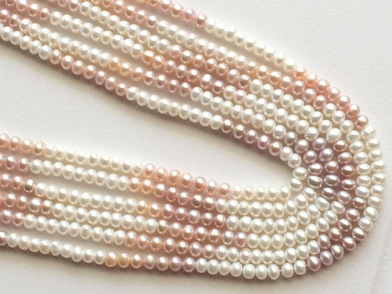5 Strands WHOLESALE Natural Pearls Natural Fresh by gemsforjewels