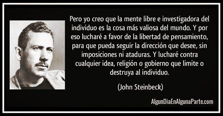 """El 20 de diciembre de 1968 #TalDíaComoHoy falleció el escritor estadounidense John Ernst Steinbeck  Premio Nobel de Literatura 1962 y galardonado con el Pulitzer en 1940. Es autor de conocidas novelas como """"De ratones y hombres"""" """"Las uvas de la ira"""" y """"Al este del Edén"""". John Steinbeck ha sido el más fiel exponente de la corriente literaria conocida como Realismo Social en los Estados Unidos. Su talento nato para escribir combinado con su sensibilidad social que especialmente miraba a los…"""