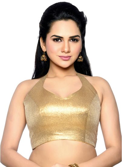 Bollywood Designer Rich Quality Gold Blouse Material(UNSTICHED) - Bollywood Designer Saree blouse