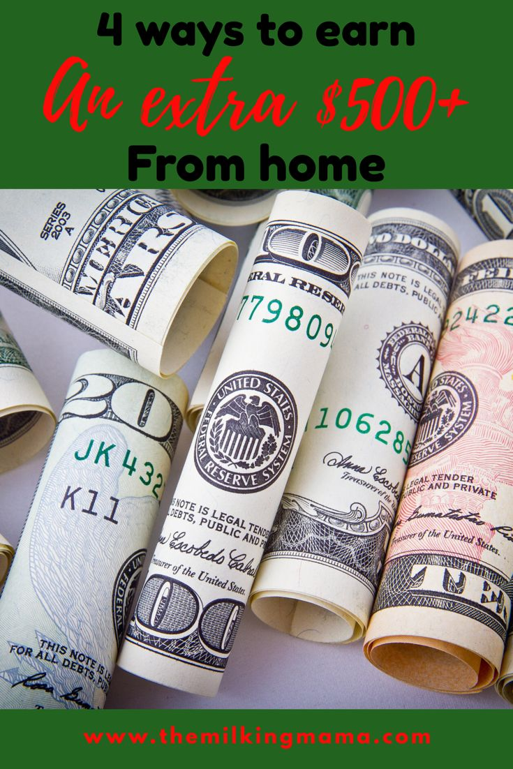 We all could use a little extra money per month, whether it's to pay bills or save for vacation or prepare for Christmas. I've put together my top 4 ways to earn extra money from home to show you how you can start earning extra money today!