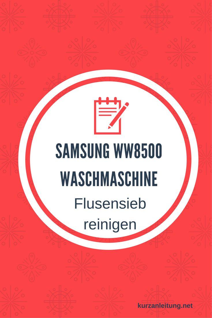 Wie wird das Flusensieb bzw. der Pumpenfilter der Samsung (Add Wash)Waschmaschine ausgebaut und gereinigt?  Marke: Samsung Modell: Add Wash, WW8500, WW12K8402OW/EG Hilfsmittel: Flache Schüssel / Schale, Putzlappen, Schlitzschraubendreher  #Flusensieb #Reinigung #Samsung #Waschmaschine