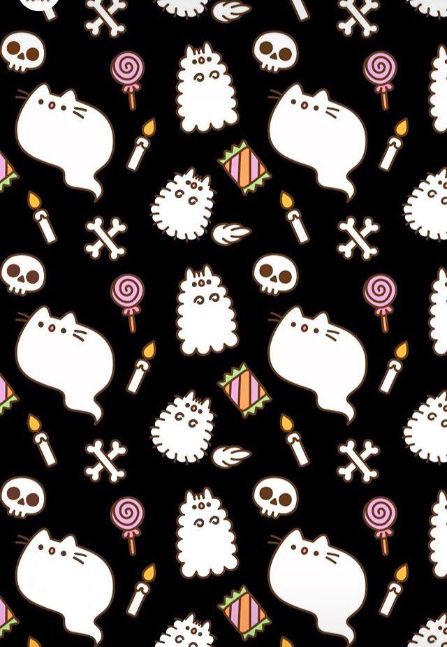 Halloween Wallpaper Cat Wallpaper Halloween Wallpaper Iphone Pusheen Cute