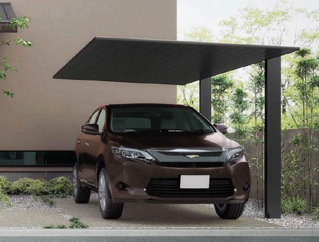 黒のカーポート 屋根も柱もブラックで統一しよう カーポート全国施工販売 カーポート専門館 カーポート カーポートのデザイン 屋根