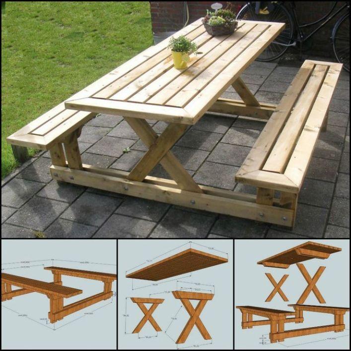 Unique Picnic Tables Building A Picnic Bench 2 25 Unique Picnic Table Plans Ideas On Pinterest Picni Picnic Table Plans Build A Picnic Table Picnic Table