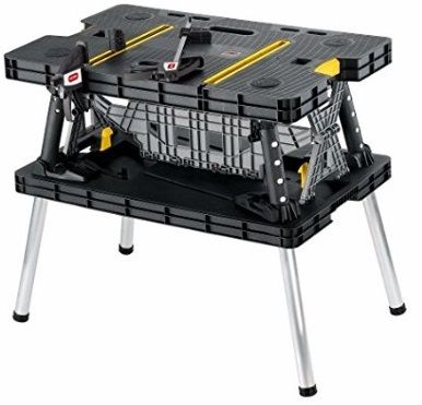 #1 Keter Folding Compact Workbench Work Table with Clamps
