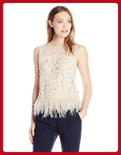 Greylin Women's Miri Feather Top, Blush, Large - All about women (*Amazon Partner-Link)