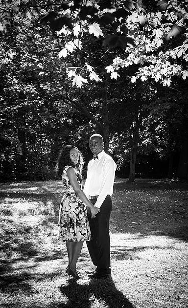 Black & white engagement photography session Scotland