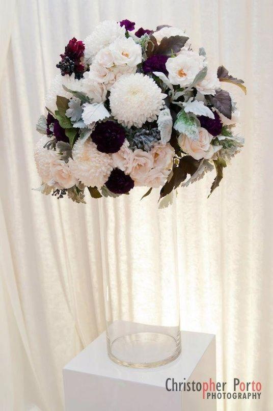 Burlington Wedding Planner White Purple Ceremony Flowers