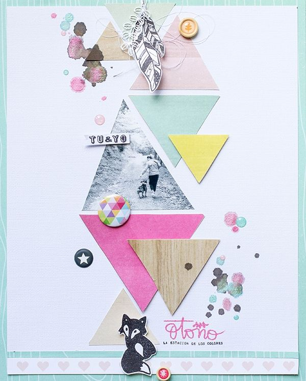 #papercraft #scrapbook #layout.  LORA BAILORA : Inspirate con Mariví - Layout TU y YO