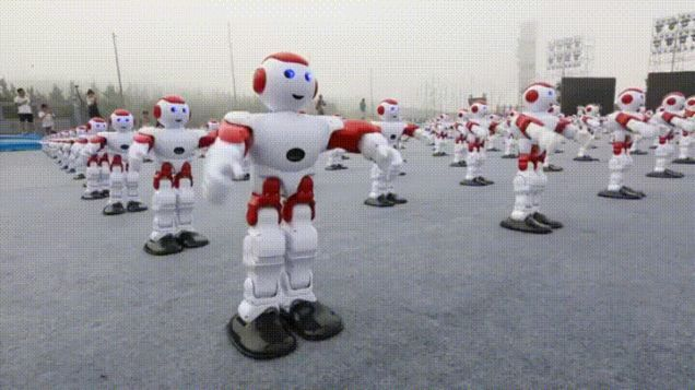 Watch Over 1,000 Robots Dance Since Robots Aren't Creepy Enough Already