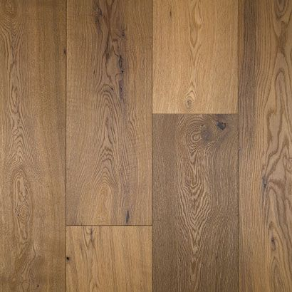 """White Oak- Catalan --- Species: White Oak --- Color: Catalan --- Width (s): 7.44"""" --- Construction: Engineered --- Thickness:5/8"""" --- Grade: Natural Grade (1 & 2 Common and Better) --- Texture: Wire Brushed --- Finish: Low Sheen Urethane --- Installation: Nail, Glue, Float --- Tags: White Oak, Catalan, Prefinished, Wirebrushed, Natural Oil Finish"""