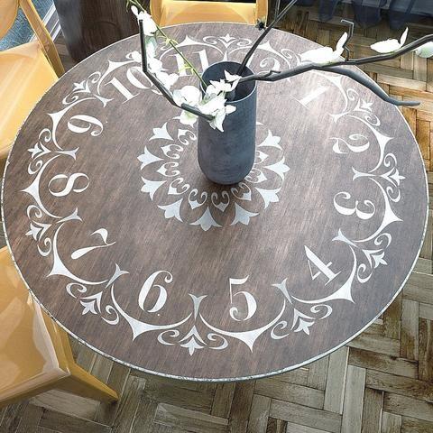 Clock Stencil - Table Clock Stencil - Furniture & Wall Stencil - DIY Clock Stencil - Stencil