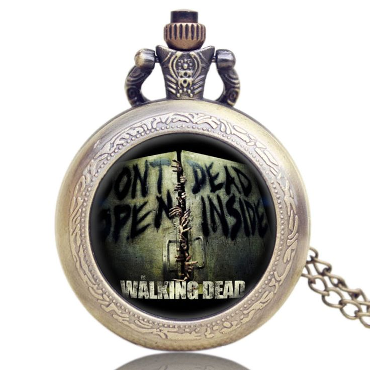 Walking Dead Glass Dome Case Design Pocket Watch With Chain Necklace //Price: $9.95 & FREE Shipping //     #carlgrimes