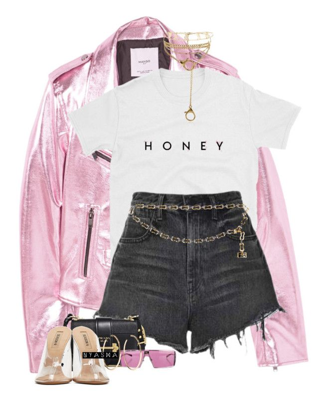 """""""Untitled #397"""" by nyashaa ❤ liked on Polyvore featuring MANGO, Alexander Wang, Louis Vuitton, Prada, Christian Dior, Forever 21, Jennifer Fisher and adidas Originals"""