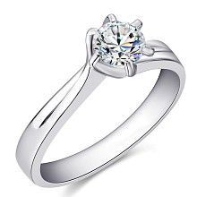 Gold engagement ring with 0,4ct diamond