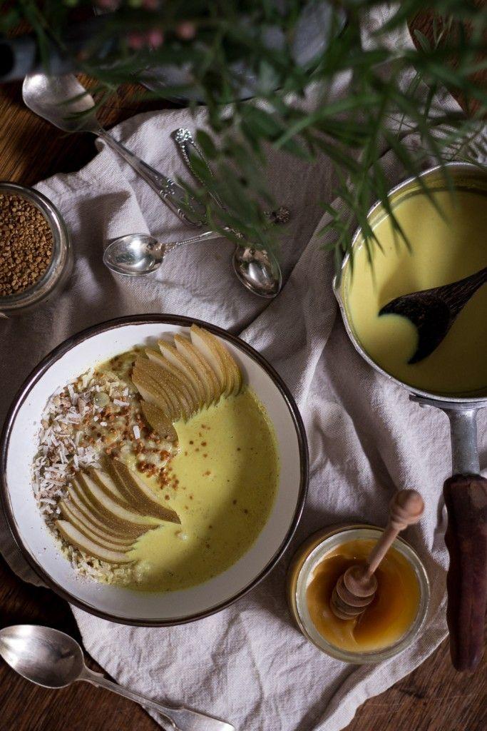 Golden Milk Porridge - sub oats with quinoa or buckwheat flakes