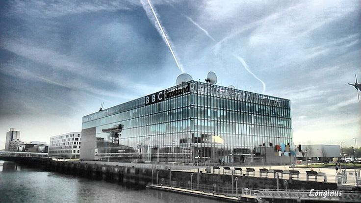 The Martians at BBC Scotland try out a new death ray on unsuspecting viewers.  #Scotland #bbcscotland #architecture #deathray