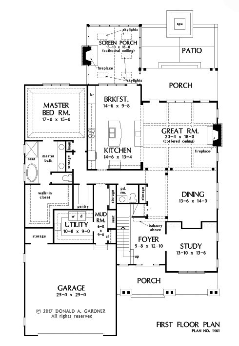 good house plans blog #2: Check out the first floor plan of The Liam, house plan 1461. Now in