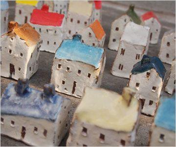 【楽天市場】陶器製の小さなおうち2個セット(オブジェ/インテリア/雑貨/家)【05P12Oct14】:シゼム楽天市場支店